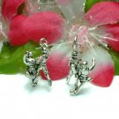 STERLING SILVER SOCCER PLAYER AFTER SOCCER BALL CHARM