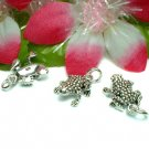 925 STERLING SILVER FROG CHARM / PENDANT #10
