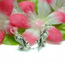 925 STERLING SILVER SMILING BEE HOLDING STICK CHARM