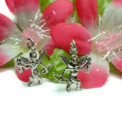 STERLING SILVER CUPID ANGEL WITH ARROW & BOW CHARM #45