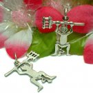 925 STERLING SILVER DEVIL WITH PITCHFORK CHARM PENDANT
