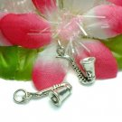 925 STERLING SILVER SAXOPHONE CHARM / PENDANT #2