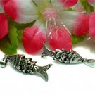 925 STERLING SILVER WIGGLEY FISH (MOVE) CHARM / PENDANT