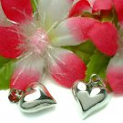925 STERLING SILVER PUFFED HEART CHARM / PENDANT #29