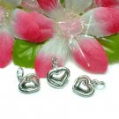 925 STERLING SILVER PUFFED HEART CHARM / PENDANT #1