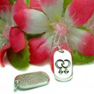 STERLING SILVER DOUBLE MALE SYMBOL CHARM / PENDANT #43