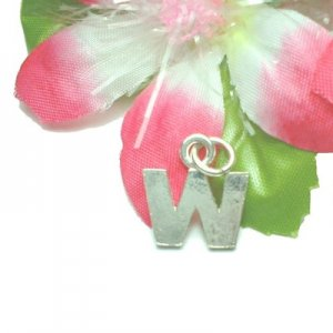 """925 STERLING SILVER INITIAL """"W"""" LETTER CHARM / PENDANT"""