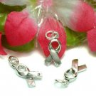 STERLING SILVER CANCER AWARENESS RIBBON CHARM / PENDANT