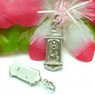 925 STERLING SILVER GRANDFATHER CLOCK CHARM / PENDANT