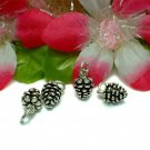 925 STERLING SILVER PINE CONE CHARM / PENDANT #24