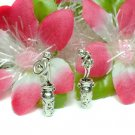 925 STERLING SILVER VASE WITH FLOWERS CHARM / PENDANT