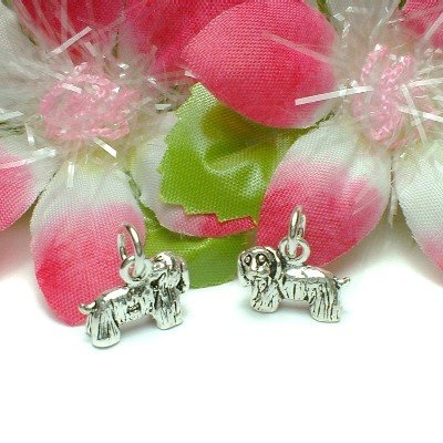 925 STERLING SILVER YORKSHIRE TERRIER DOG CHARM PENDANT