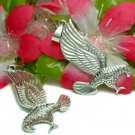 925 STERLING SILVER FLYING HAWK / EAGLE CHARM / PENDANT