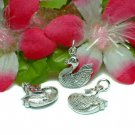 925 STERLING SILVER SWAN BIRD CHARM / PENDANT #25