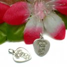 925 STERLING COUPLE HUGGING HEART CHARM / PENDANT