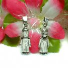 925 STERLING SILVER GIRL IN DRESS CHARM / PENDANT