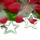 925 STERLING SILVER PLAIN STAR CHARM / PENDANT #1