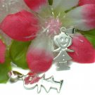 925 STERLING SILVER LITTLE GIRL CHARM / PENDANT