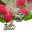 STERLING SILVER JOCKEY HORSE RACING CHARM / PENDANT #9