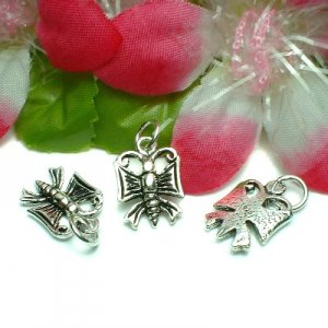925 STERLING SILVER BUTTERFLY CHARM / PENDANT #16