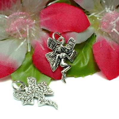 925 STERLING SILVER FLYING FAIRY CHARM / PENDANT #10