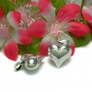 925 STERLING SILVER PUFFED HEART CHARM / PENDANT #18