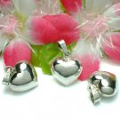 925 STERLING SILVER PUFFED HEART CHARM / PENDANT #6