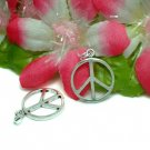 925 STERLING SILVER PEACE SYMBOL CHARM / PENDANT #26