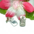 STERLING SILVER CROSS GOODLUCK TAG (MOVE) CHARM PENDANT
