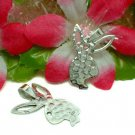 STERLING SILVER PLAYBOY BUNNY RABBIT CHARM PENDANT #30