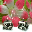 STERLING SILVER WESTERN STAGE COACH (MOVE) CHARM PENDAN