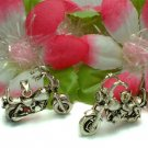 STERLING SILVER MOTORCYCLE (MOVES) CHARM / PENDANT #261