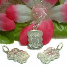925 STERLING SILVER BOY AND GIRL KISSING CHARM / PENDAN