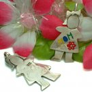 925 STERLING SILVER COLORFUL ENAMEL MOM CHARM / PENDANT