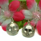 STERLING SILVER MOON WITH 2-EXPRESSIONS CHARM / PENDANT