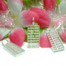 STERLING SILVER ABACUS (MOVABLE BEADS) CHARM / PENDANT