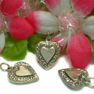 925 STERLING SILVER PUFFED HEART CHARM / PENDANT #138
