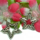 STERLING SILVER FILIGREE PUFFED STAR CHARM PENDANT #329