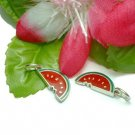 925 STERLING SILVER SLICE OF WATERMELON CHARM / PENDANT