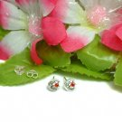 925 STERLING SILVER MOON AND STAR CZ STUD EARRINGS #47