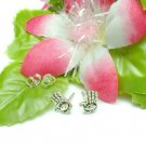 925 STERLING SILVER HAMESH HAND WITH CZ STUD EARRINGS