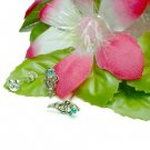 925 STERLING SILVER VIRGO TURQUOISE CZ STUD EARRINGS