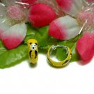 925 STERLING SILVER ENAMEL PANDA BEAR HOOP EARRINGS #7