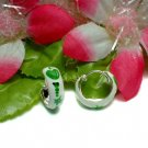 925 STERLING SILVER ENAMEL APPLE & WORM HOOP EARRINGS