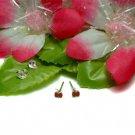 925 STERLING SILVER RED ENAMEL APPLE STUD EARRINGS