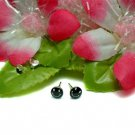 925 STERLING SILVER SMILEY FACE BLACK STUD EARRINGS
