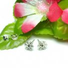 925 STERLING SILVER 7MM SNOW FLAKE STUD EARRINGS