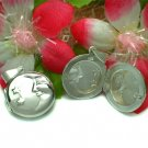 STERLING SILVER MOON AND STARS PHOTO LOCKET / PENDANT