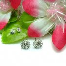 925 STERLING SILVER SPIDER ON WEB STUD EARRINGS