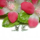 925 STERLING SILVER WITCH ON BROOM STUD EARRINGS #512